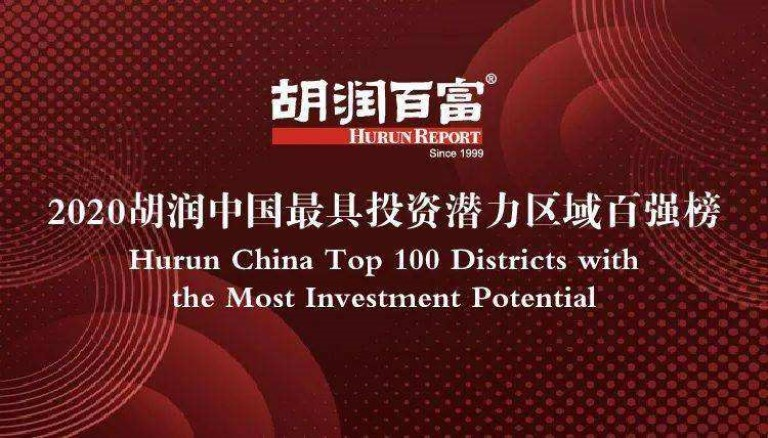 2020年胡润中国最具投资潜力区域百强榜