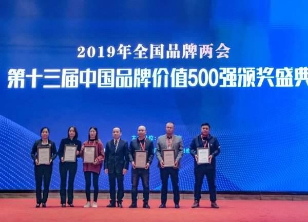 2019年中国品牌价值500强完整榜单